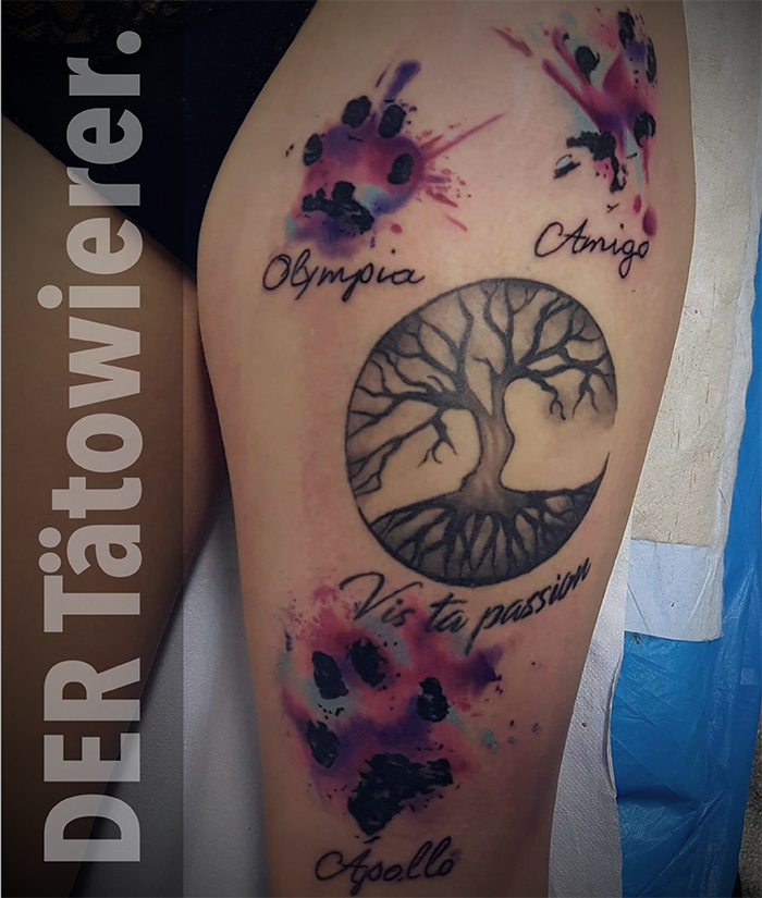 Watercolour Tattoo, Customtattoos, der Tätowierer Freistadt,