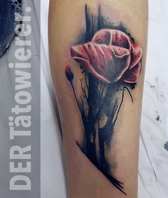 watercolour tattoo, freistadt, der tätowierer, Customtattoos,